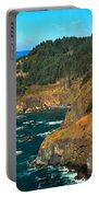 Cliffs At Cape Foulweather Portable Battery Charger by Adam Jewell