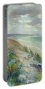 Cliffs By The Sea At Trouville  Portable Battery Charger by Gustave Caillebotte