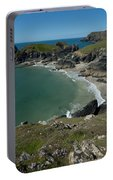 Cliffs In Bretagne Portable Battery Charger