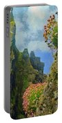 Cliffside Sea Thrift Portable Battery Charger by Jeff Kolker