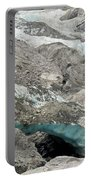 Climate Change Melting Glacier Ice And Sheer Rock Portable Battery Charger