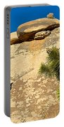 Climber At Quail Springs In Joshua Tree Np-ca Portable Battery Charger