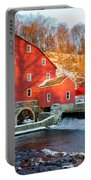 Clinton Mill In Winter Portable Battery Charger