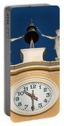 Clock Tower In Bardolino Portable Battery Charger