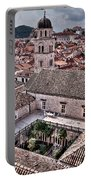 Cloistered Garden And Tower In The White City Portable Battery Charger