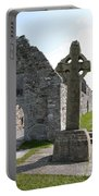 Clonmacnoise Cathedral  And High Cross Ireland Portable Battery Charger