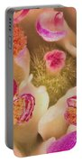 Close Flower Center Portable Battery Charger