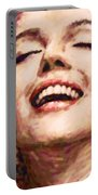 Close Up Beautifully Happy Portable Battery Charger