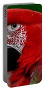 Close Up Of A Gorgeous  Green Winged Macaw Parrot. Portable Battery Charger