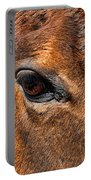 Close Up Of A Horse Eye Portable Battery Charger by Paul Ward
