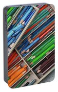 Close-up Of Color Pencils, Ishoj Portable Battery Charger