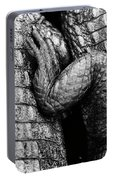 Close Up Of Crocodiles Leg Black Portable Battery Charger