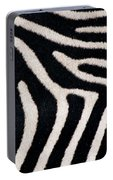 Close-up Of Greveys Zebra Stripes Portable Battery Charger