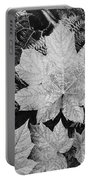 Close Up Of Leaves Portable Battery Charger