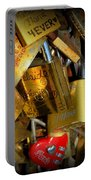 Close Up Of Paris Locks Of Love Portable Battery Charger