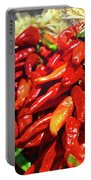 Close-up Of Red Chilies, Taos, New Portable Battery Charger