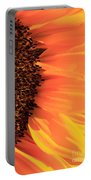 Close Up Of The Florets And Petals Of A Sunflower Portable Battery Charger