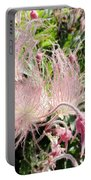 Close-up Of The Prairie Smoke Wildflower Portable Battery Charger