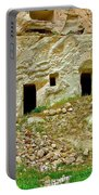 Close-up Of Tufa-carved Homes In Cappadocia-turkey Portable Battery Charger