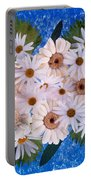Close Up Of White Daisy Bouquet Portable Battery Charger
