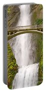 Close Up View Of Multnomah Falls In The Columbia River Gorge Of Oregon Portable Battery Charger