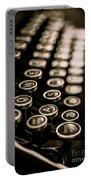 Close Up Vintage Typewriter Portable Battery Charger by Edward Fielding
