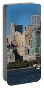 Close View Of Downtown Manhattan Eastern Skyline Portable Battery Charger