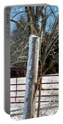 Closed Gate In Winter  Portable Battery Charger