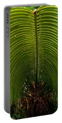 Closeup Of A Palm Tree Leaf Portable Battery Charger