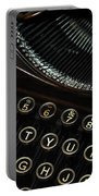 Closeup Of Antique Typewriter Portable Battery Charger