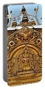 Closeup Of Carving Over Door In Bhaktapur Durbar Square In Bhaktapur-nepal Portable Battery Charger