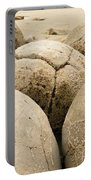 Closeup Of Famous Spherical Moeraki Boulders Nz Portable Battery Charger