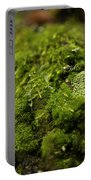Closeup Of Moss And Lichen. Rhoen Portable Battery Charger