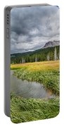 Clouds Over Hat Lake Portable Battery Charger