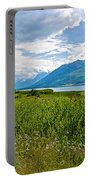 Clouds Over Jackson Lake In Grand Teton National Park-wyoming Portable Battery Charger
