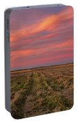 Clouds Over Landscape At Sunset Portable Battery Charger