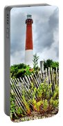 Cloudy At Barnegat Light Portable Battery Charger