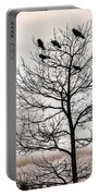 Cloudy Day Blackbirds Portable Battery Charger