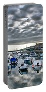 Cloudy Morning - Lyme Regis Harbour Portable Battery Charger