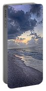 Cloudy Sunrise Over Orange Beach Portable Battery Charger