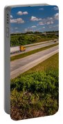 Clover Leaf Exit Ramps On Highway Near City Portable Battery Charger