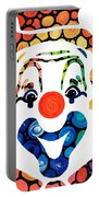 Clownin Around - Funny Circus Clown Art Portable Battery Charger by Sharon Cummings