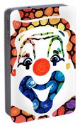 Clownin Around - Funny Circus Clown Art Portable Battery Charger