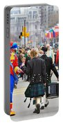Clowns And Tartans Portable Battery Charger