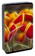 Cluisiana Tulips Triptych  Portable Battery Charger