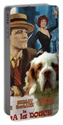 Clumber Spaniel Art - Irma La Douce Movie Poster Portable Battery Charger