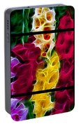 Cluster Of Gladiolas Triptych  Portable Battery Charger