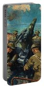 Coastal Battery Scene Artist Terence Cuneo Portable Battery Charger
