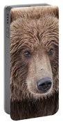 Coastal Brown Bear Closeup Portable Battery Charger