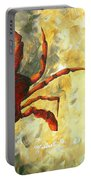 Coastal Crab Decorative Painting Original Art Coastal Luxe Crab By Madart Portable Battery Charger